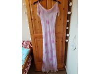 Pink & Purple formal floor length dress, size 12, John Lewis. Worn once, in excellent condition.