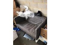 Ikea sofa, ideal dog bed