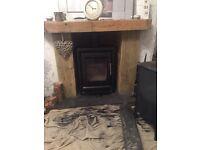 Real wood log burner for sale.
