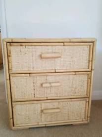 Bamboo 3 Drawer chest of drawers