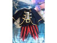 Halloween pirate fancy dress age 2/3