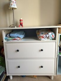 Hemnes IKEA chest of drawers and changing table