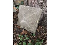 2 x square coping stones (reclaimed from 1940s wall)