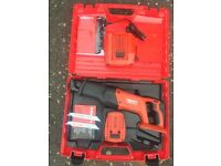 New hilti reciprocating saw + spare battery