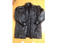 VINTAGE / RETRO LEATHER USA JACKET POLICE / MILITARY POSSIBLY 1987