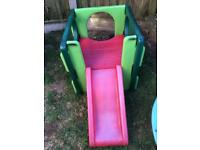 Garden kids slide outdoor child