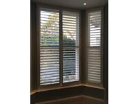 Wooden white plantation shutters - fantastic condition