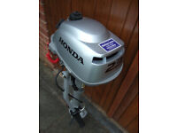 Outboard Motor, Honda 2.3HP air cooled. Four years old but unused.