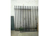 "6ft 3"" Tall, 8ft 6"" wide Black Metal Driveway Gates for £80"