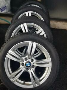 LIKE BRAND NEW  BMW X3 ULTRA HIGH PERFORMANCE FALKEN WINTER TIRES 245 / 50 / 18 ON  AFTERMARKET REPLICA ALLOY WHEELS