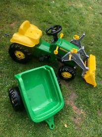 Kids ride on John Deere Tractor