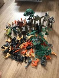 Lots of plastic animals