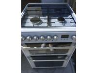 Hotpoint duel fuel 60cm cooker free delivery