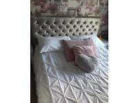 Grey/silver bed frame