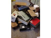 JOB LOT OF SMALL USED CARDBOARD BOXES - IDEAL FOR EBAYERS