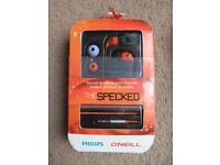 ( New ) Philips O'Neill SHO9555/10 Specked In-Ear Headphones £15