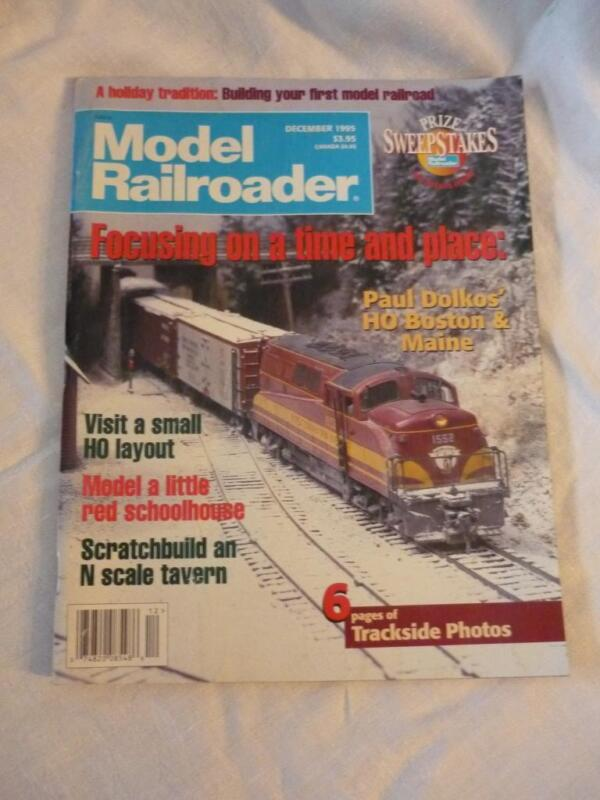 MODEL RAILROADER DECEMBER 1995 MAGAZINE ISSUE PAUL DOLKOS HO BOSTON & MAINE