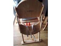 Wooden hight chair