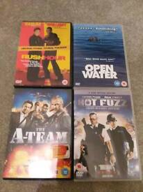 DVDs adults hot fuzz a team rush hour open water