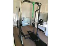 Bodymax Workout Strength Package - bench, bar, weights and rack
