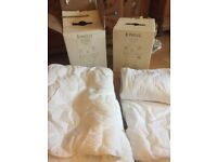 Winter and Summer Toddler bed Duvets from John Lewis. 9tog and 4tog respectively. 3 sets duvetcover