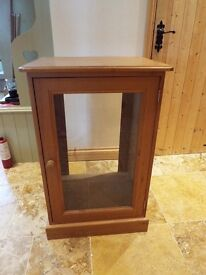 Pine display /stereo cabinet