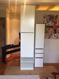 Ikea White Pax Wardrobes
