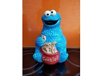Rare Mrs Fields Cookie Monster Cookie Jar