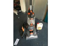VAX Dual power Carpet Cleaner with extensions and detergent (only used twice)