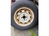 Spare trailer wheel with new tyre