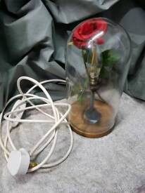Beauty and the Beast LED Lamp (Hand Crafted)