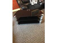 Black glass tv stand for 40-50 inch tv
