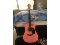 Adult Size Pink Guitar For Sale