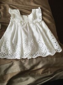 Girls next white top, up to 3 Months