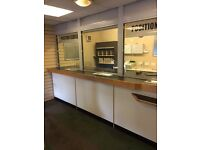 post office counter / security counter