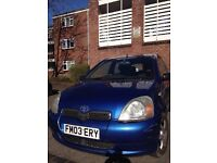 Toyota Yaris 6 mots MOT very good runner and good condition
