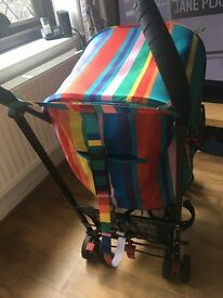 Maclaren Dylan's candy bar stroller. Liner and raincover