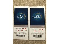 Sam Smith Tickets x2 07/04/18 o2 area