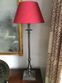 Good Quality Tall Steel Table Lamp Base & Shade
