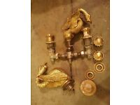 Brass BAth Set -Swans