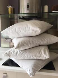 Large square feather cushion inners x 2