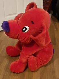 RED SOFT DOG TOY 29 INCHES