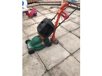 Electric lawnmover and strimmer for sale