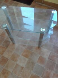 Glass tv stand unit