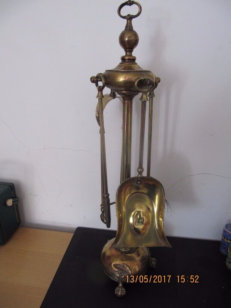 Antique late VICTORIAN ERA fire companion setin Tower Hamlets, LondonGumtree - This is a distinctive fire companion set has brush,pan,stoker and tongs and rests on claw and ball feet... All offers will be considered