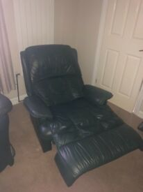 £50 Leather reclining armchair