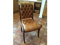 Classic French leather chair