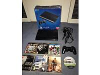Boxed Play station 3 500GB super slim, original controller 7 games all wires