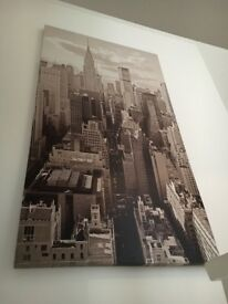 New York black and white canvass 100cm x 180cm