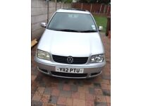 2001 Year,VW Polo 1.4 Automatic,5 door,Silver,Petrol.
